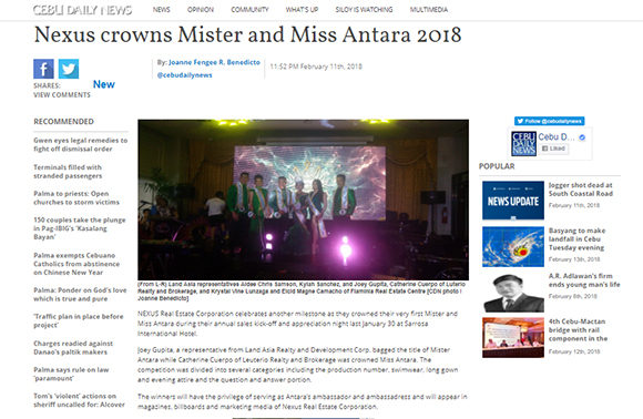 Nexus crowns Mister and Miss Antara 2018